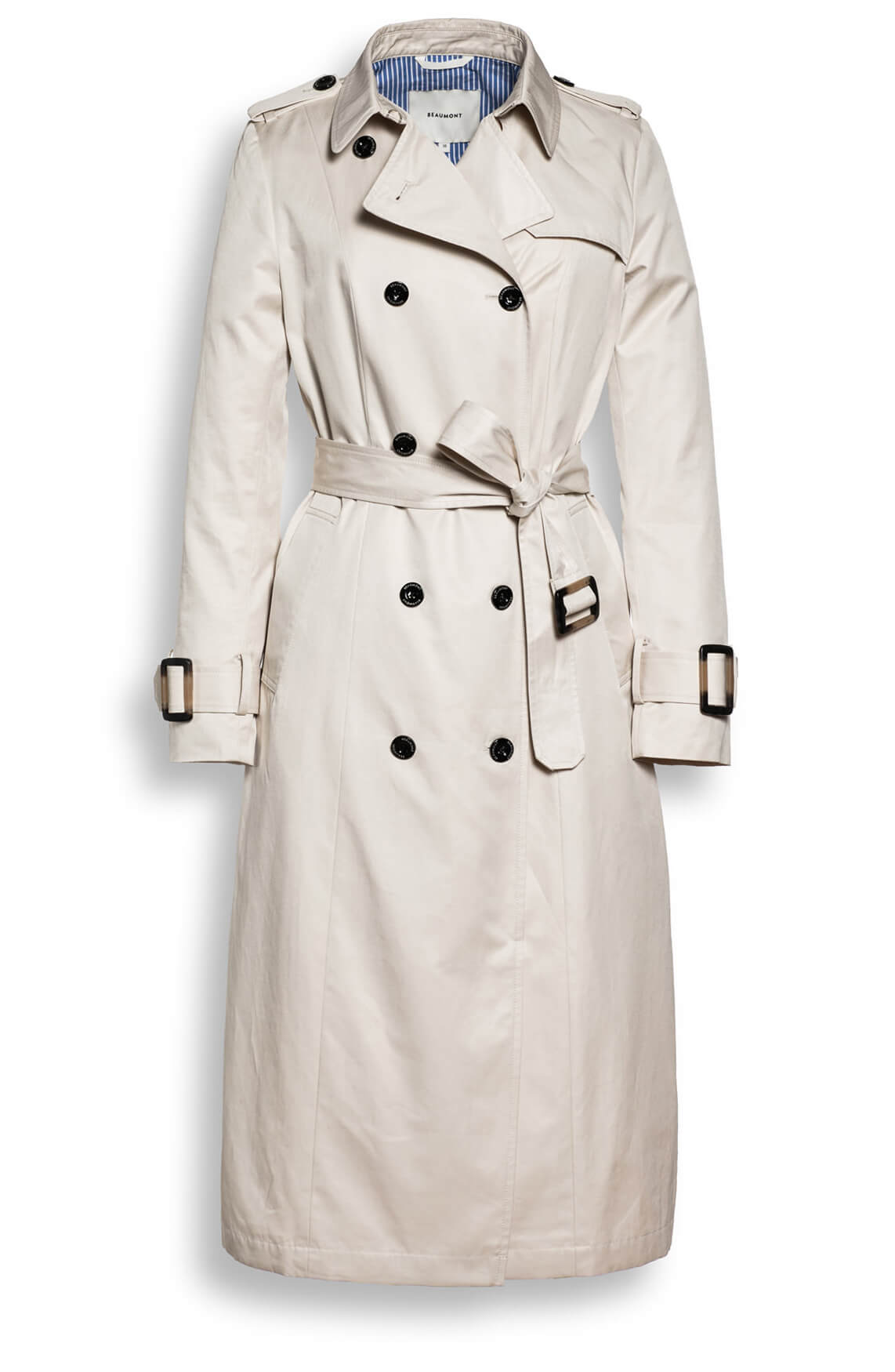 Beaumont Dames Trenchcoat Ecru