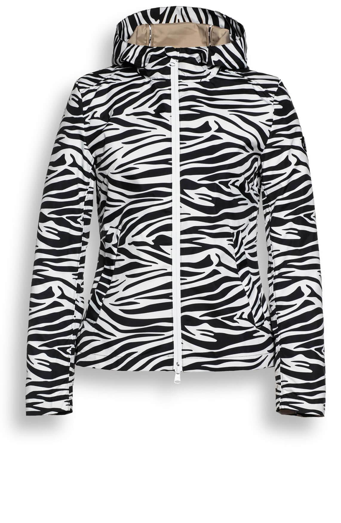 Beaumont Dames Korte jas met zebraprint zwart