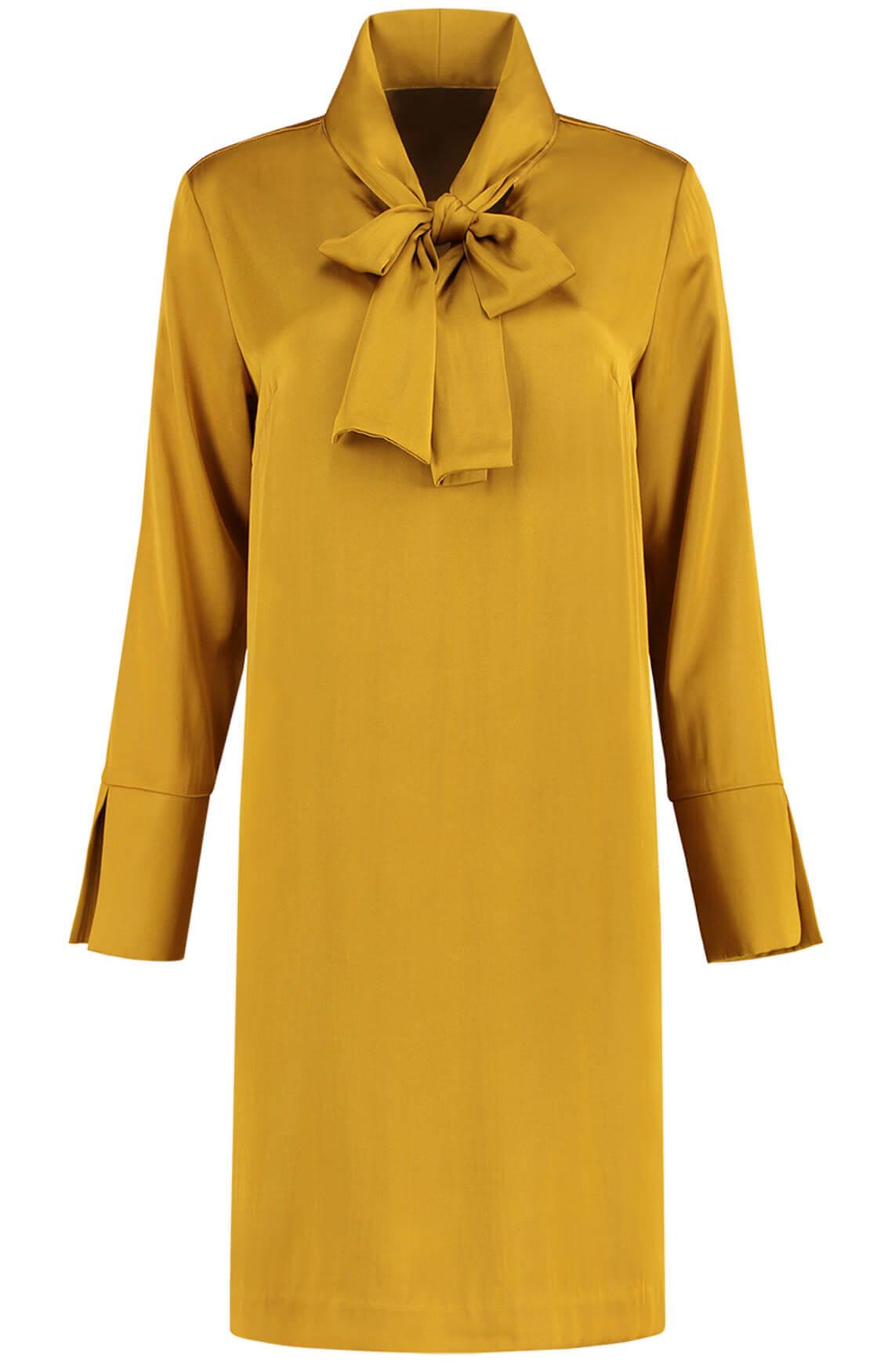 Fifth House Dames Roxy jurk met strik goud