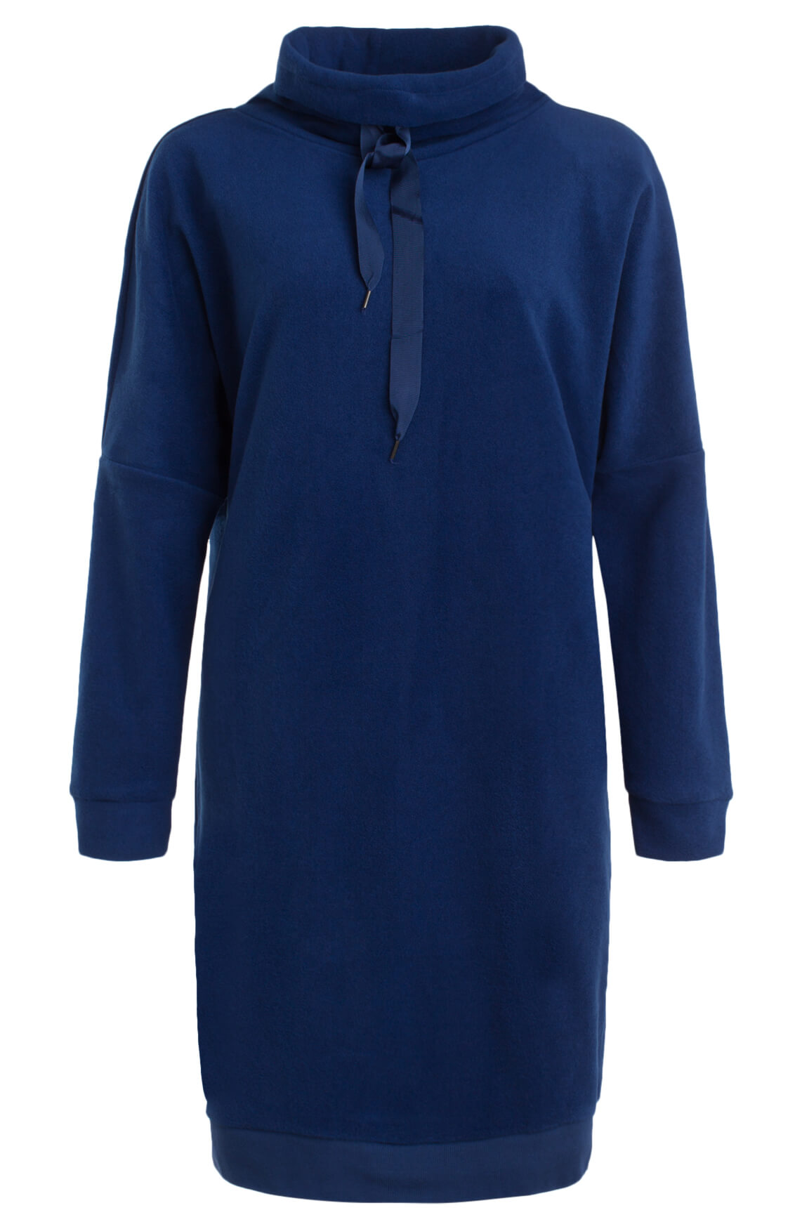 Anna Blue Dames Fleece jurk 0