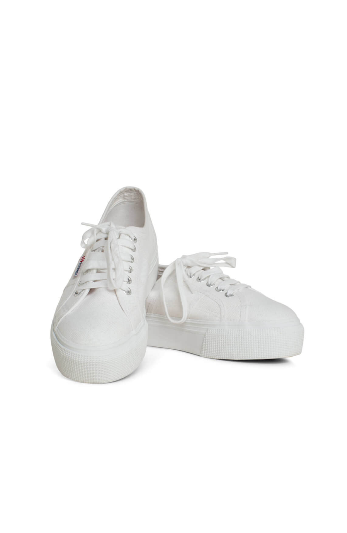 Superga Dames Sneaker met plateauzool wit
