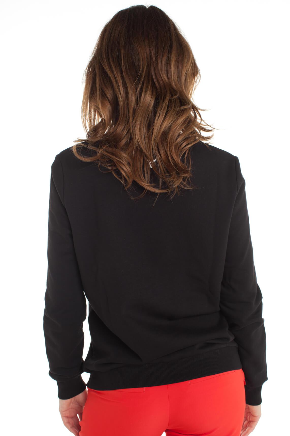 Alix The Label Dames Sweater met tekstprint zwart