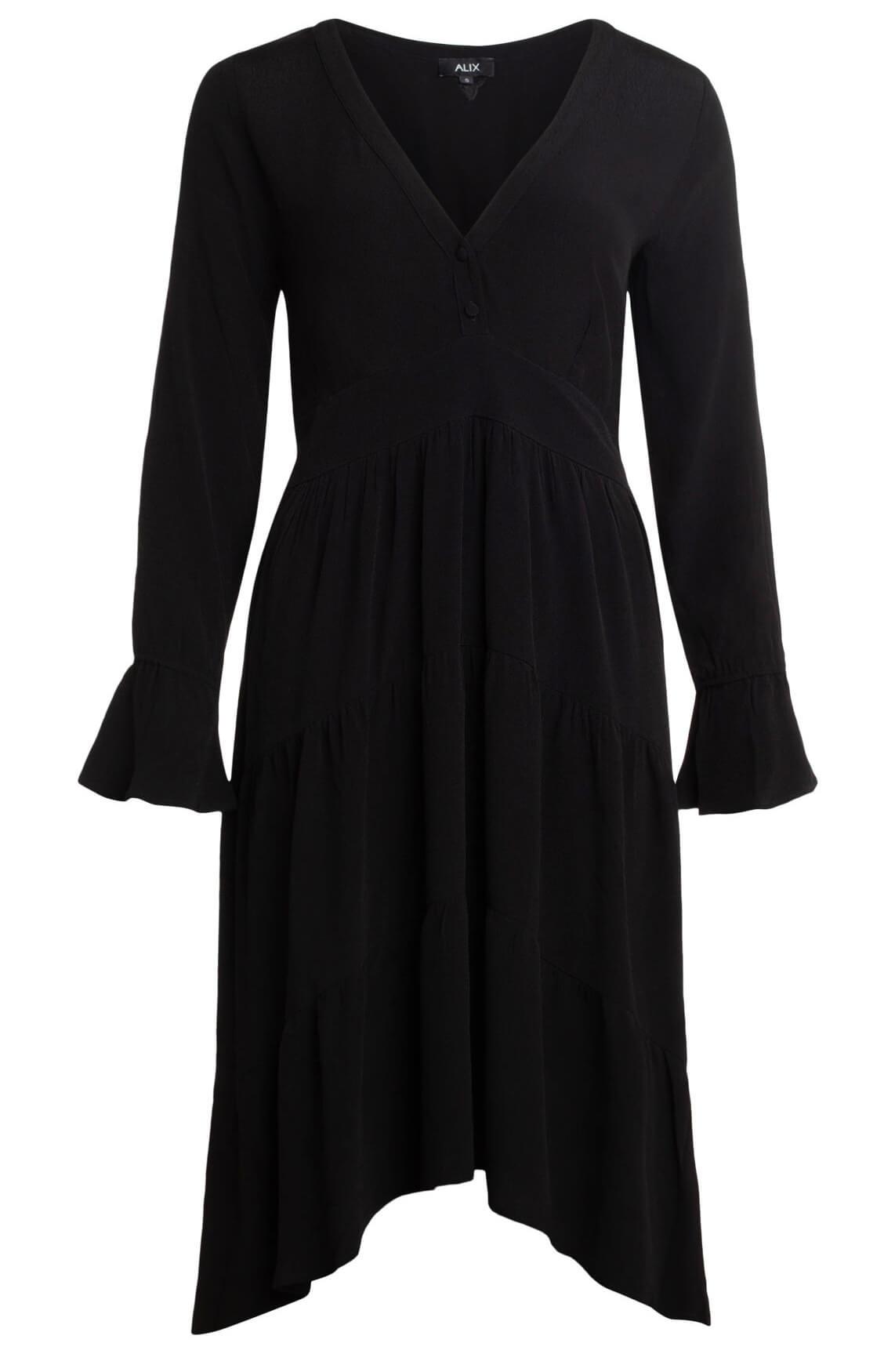 Alix The Label Dames Lange jurk zwart