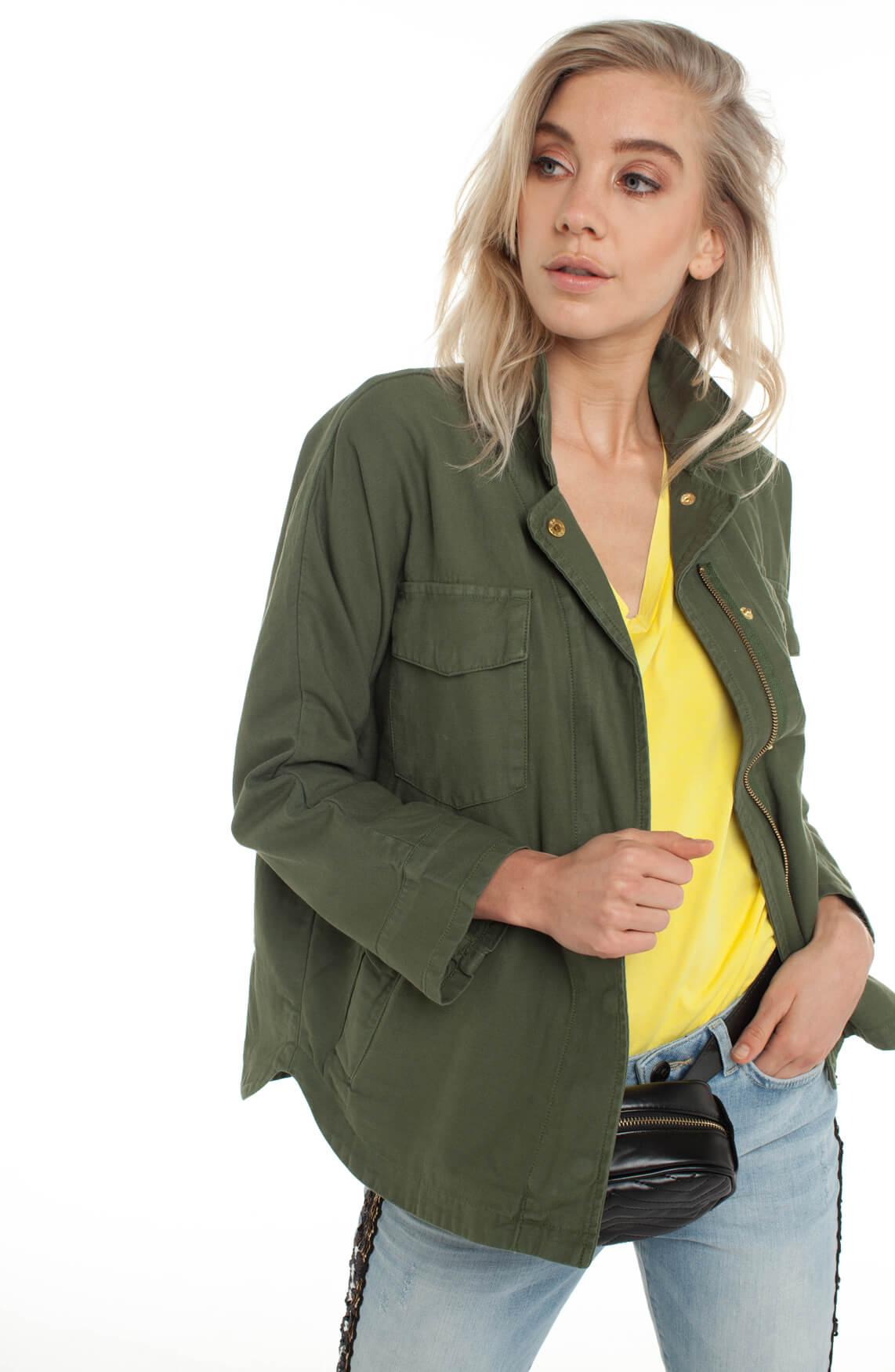 Alix The Label Dames Oversized jack groen
