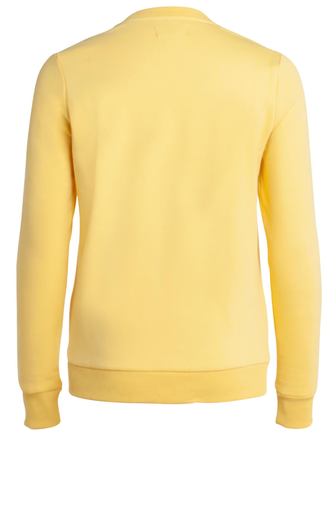 Alix The Label Dames Sweater met tekstprint geel