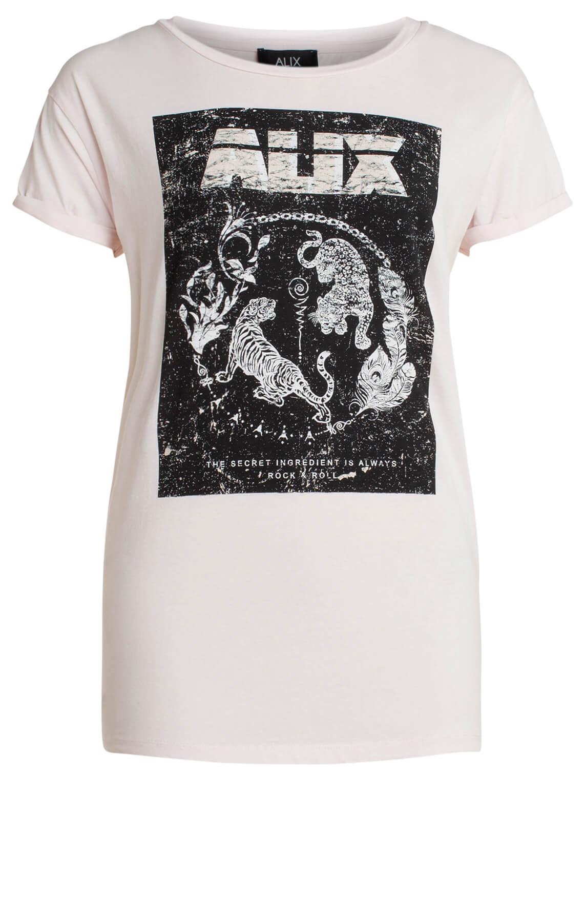Alix The Label Dames Shirt met opdruk roze