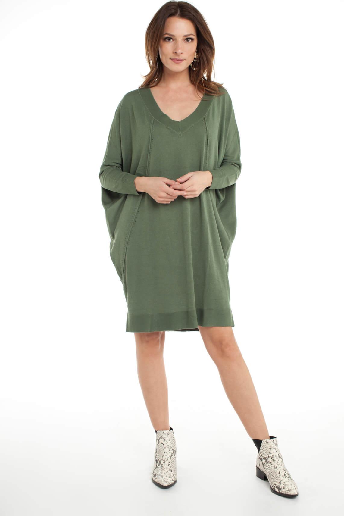 Alix The Label Dames Oversized jurk groen