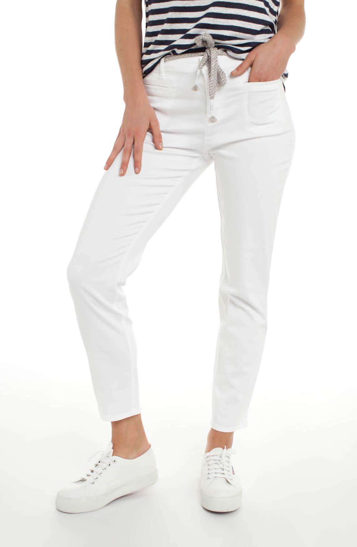 Rosner Dames Alisa broek met glitter ceintuur wit