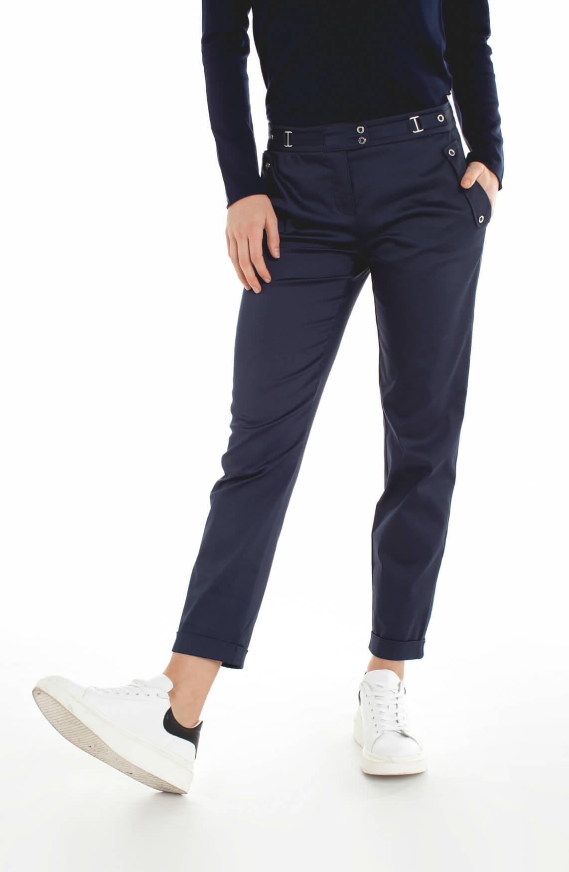 Rosner Dames Alisa pantalon met riempje Blauw