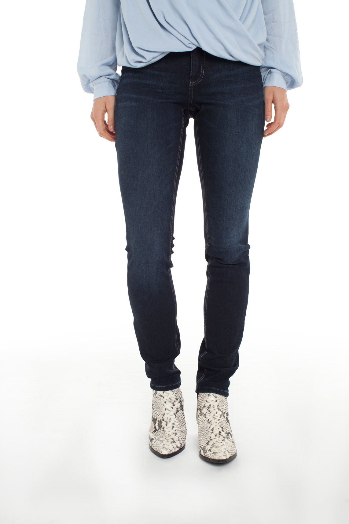 Cambio Dames Parla donkere jeans Blauw