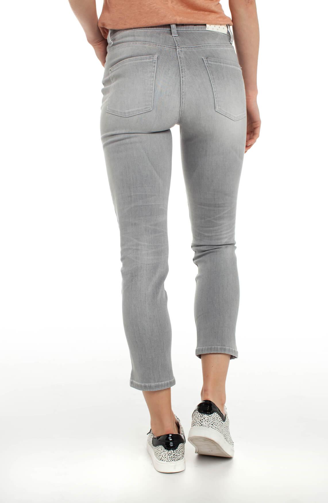 Cambio Dames Piper jeans met zilveren patroon Grijs