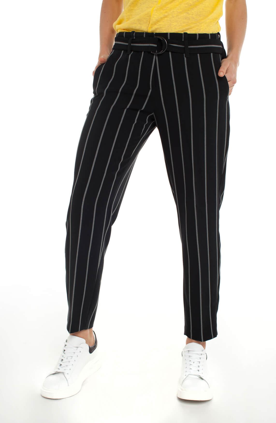 Cambio Dames Kaia pantalon met strepen zwart