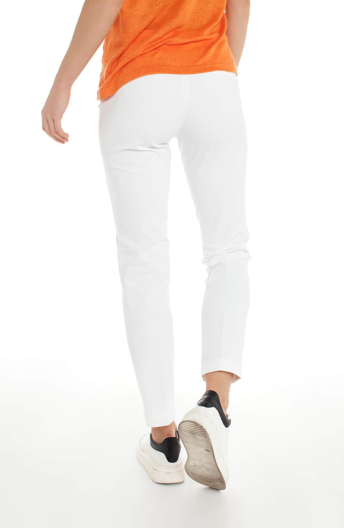 Cambio Dames Ros pantalon met gestikte plooien wit