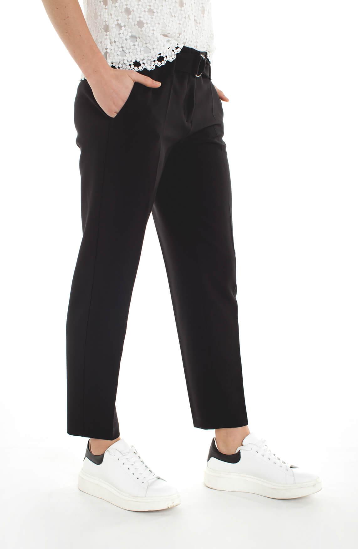 Cambio Dames Kaia pantalon met ceintuur zwart