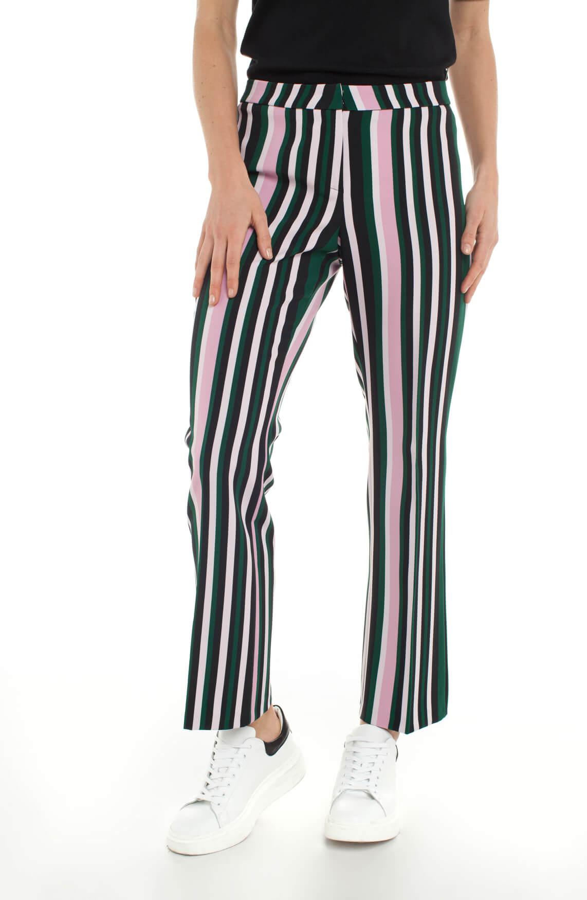 Cambio Dames Fame gestreepe pantalon zwart