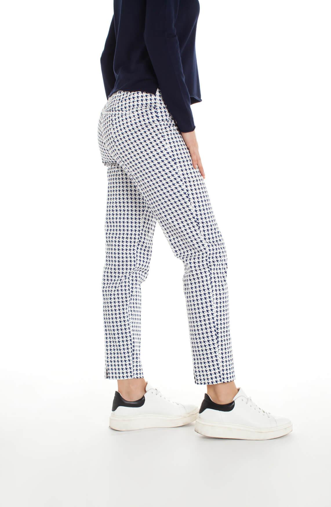 Cambio Dames Renira pied-de-coque pantalon Blauw