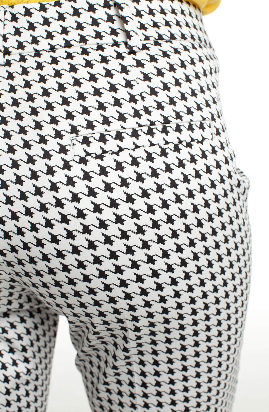 Cambio Dames Renira pied-de-coque pantalon zwart