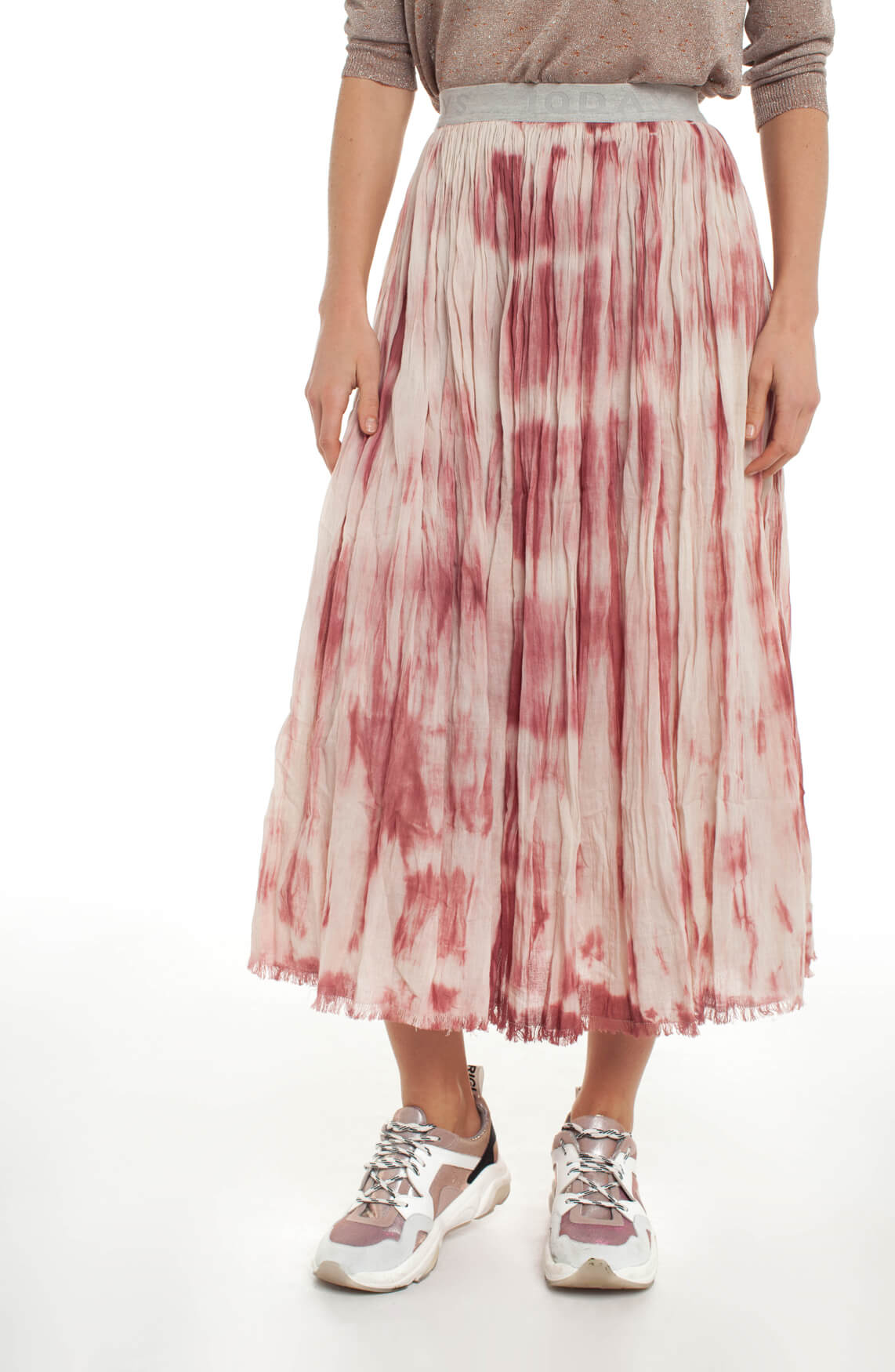 10 Days Dames Garment dye plooirok roze