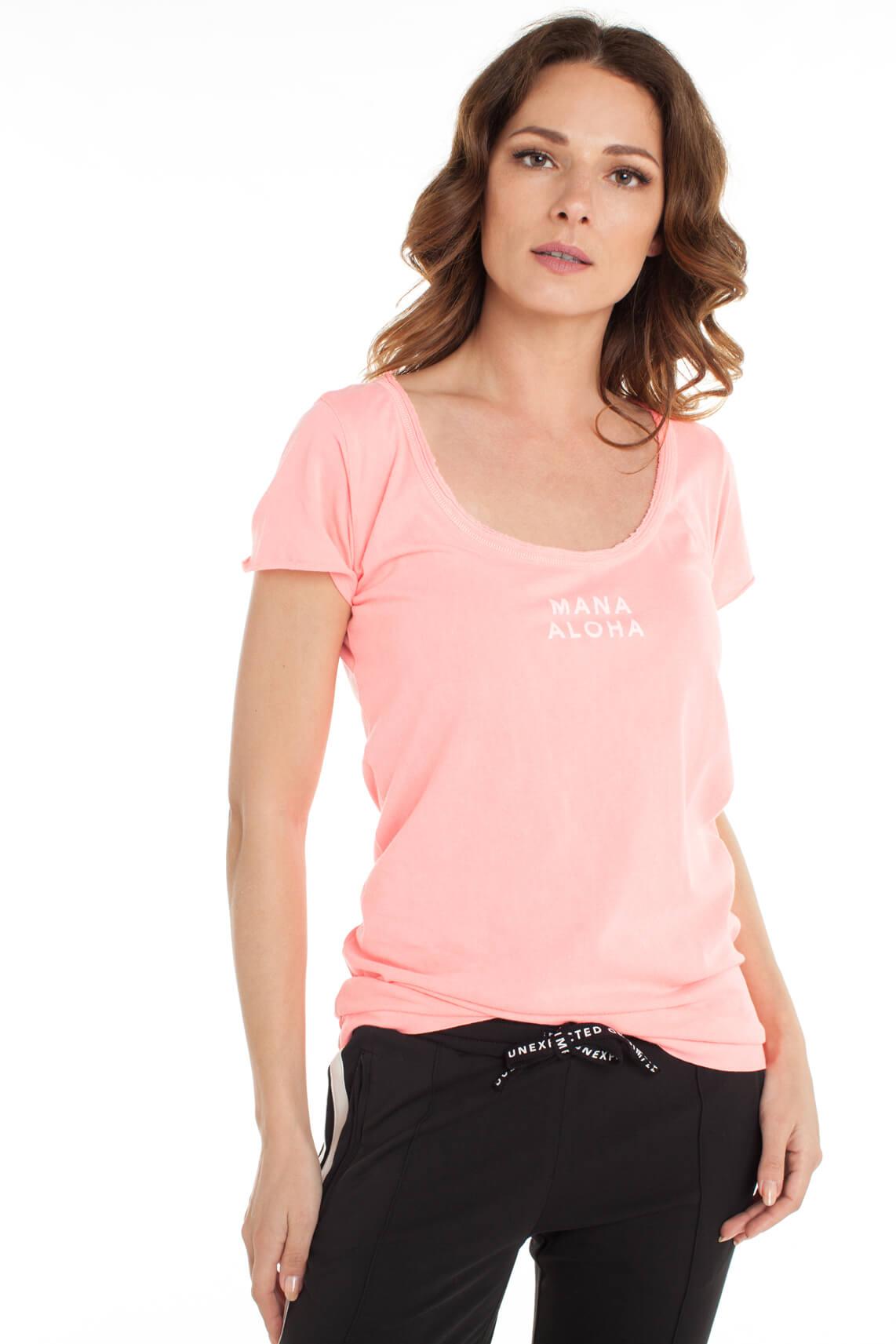 10 Days Dames Shirt met tekstprint roze