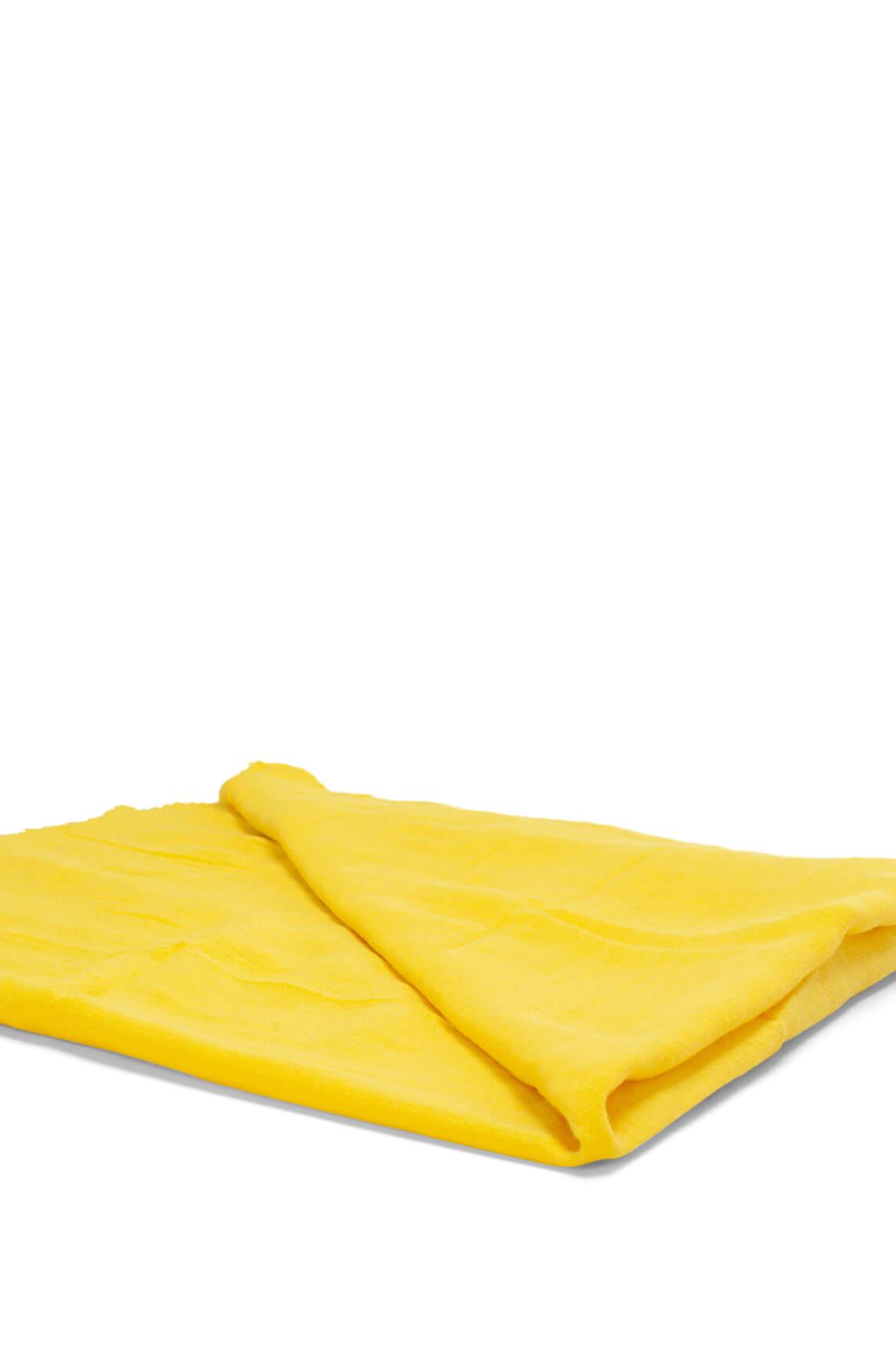 10 Days Dames Gele shawl met bies geel