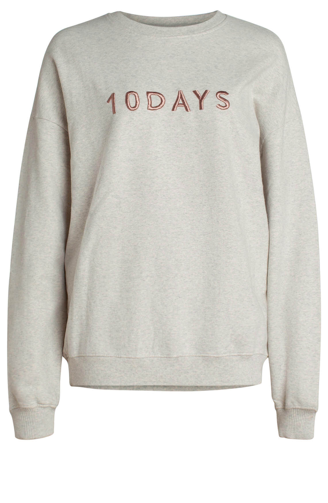 10 Days Dames Gemêleerde sweater met tekst wit