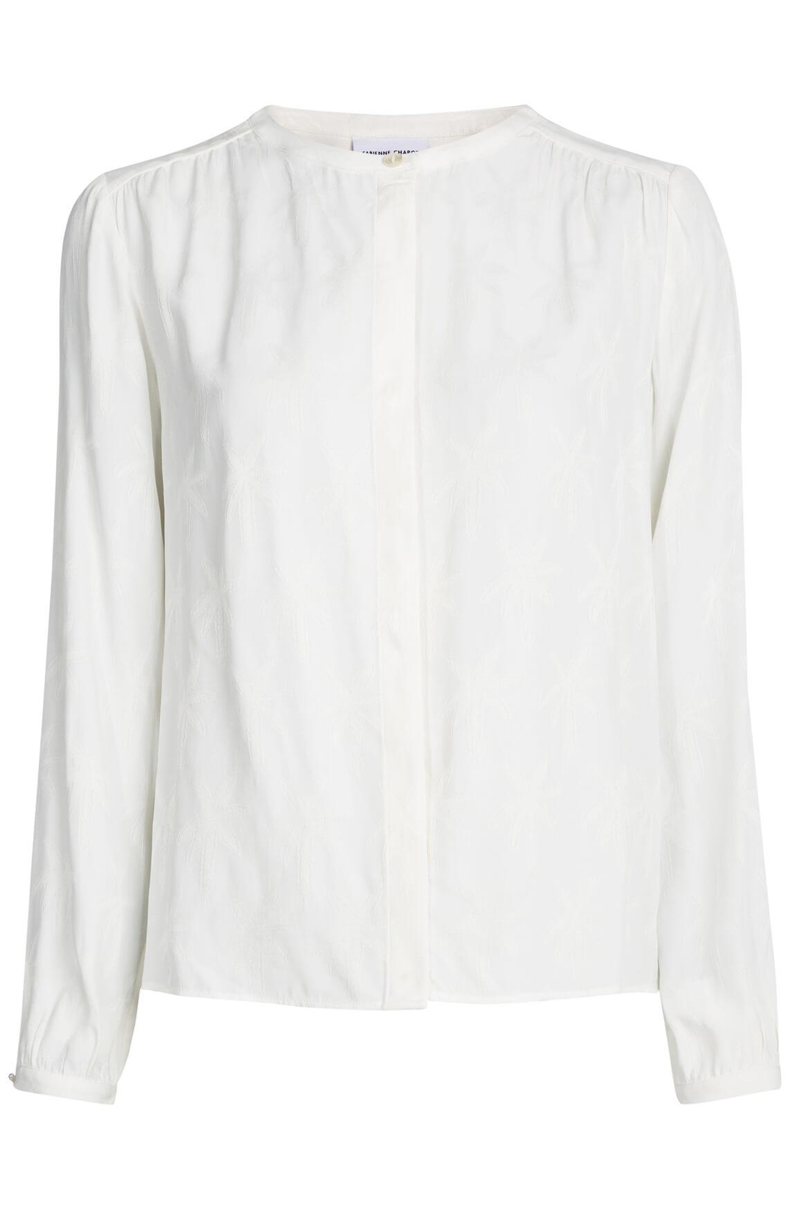 Fabienne Chapot Dames Atlas blouse met palmprint wit