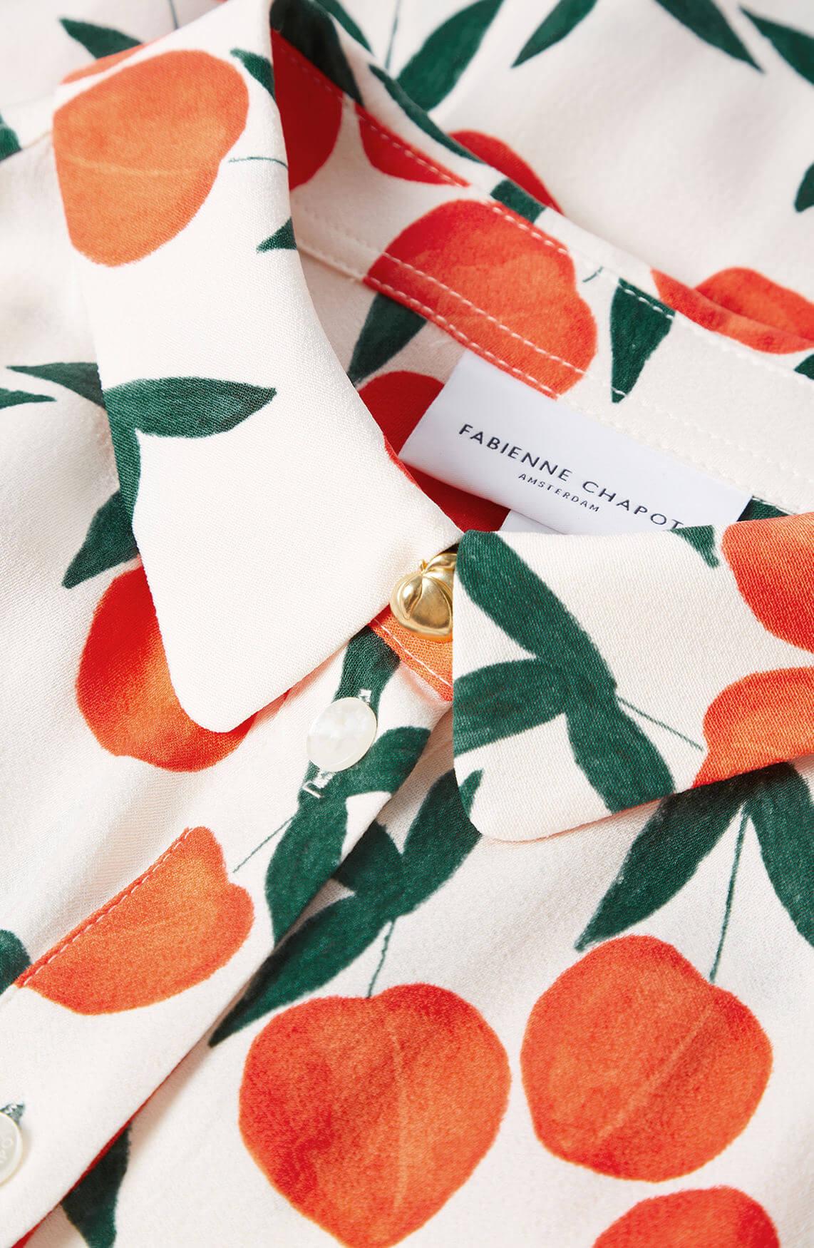 Fabienne Chapot Dames Mila jurk met perzikprint Oranje