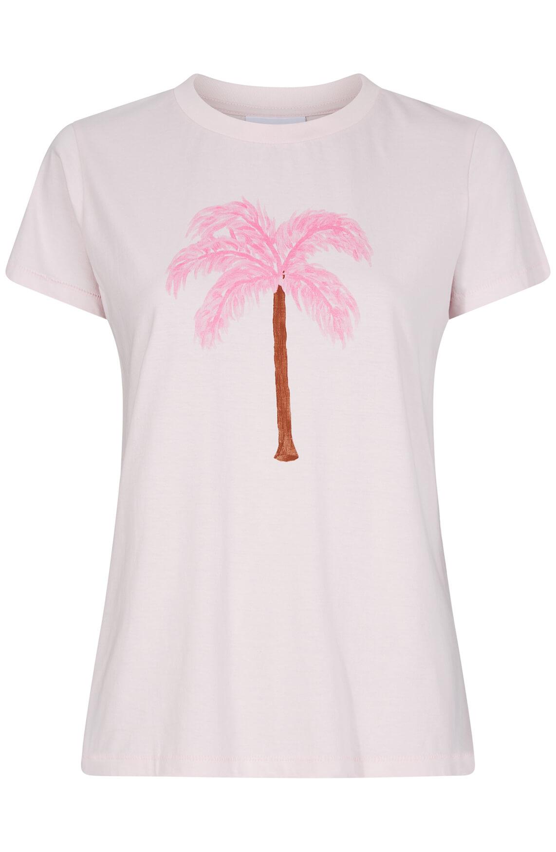 Fabienne Chapot Dames Joanne shirt met palmprint roze