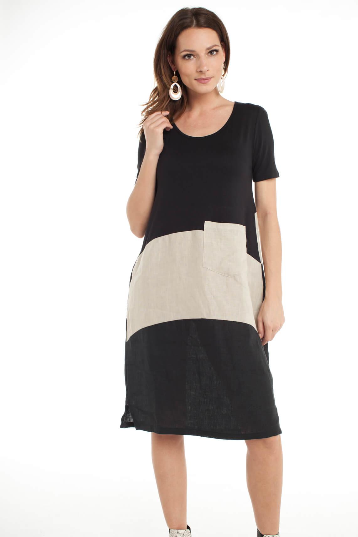 La Fée Maraboutée Dames Materiaalmix jurk zwart