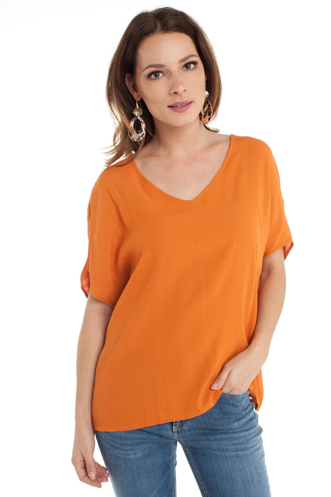 La Fée Maraboutée Dames Wijde blouse Oranje