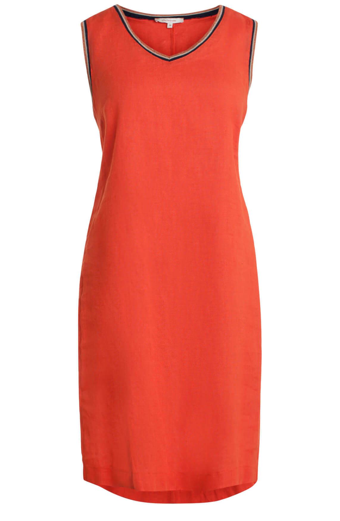 La Fée Maraboutée Dames Linnen jurk met glitterbies Oranje