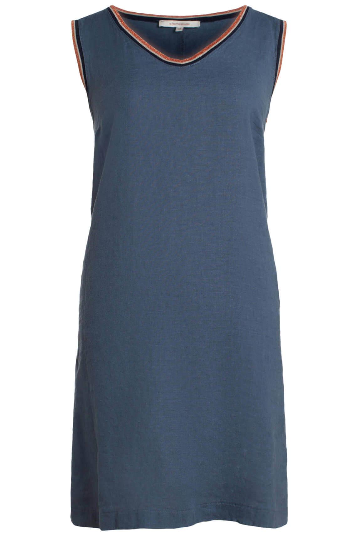 La Fée Maraboutée Dames Linnen jurk met glitterbies Blauw