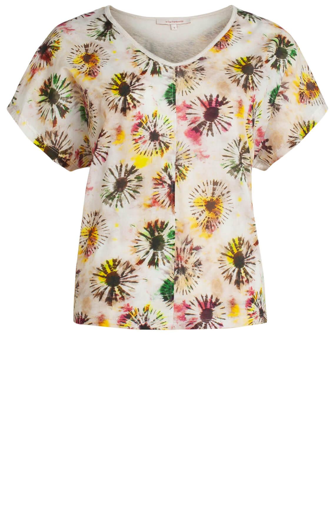 La Fée Maraboutée Dames Shirt met bloemenprint Ecru