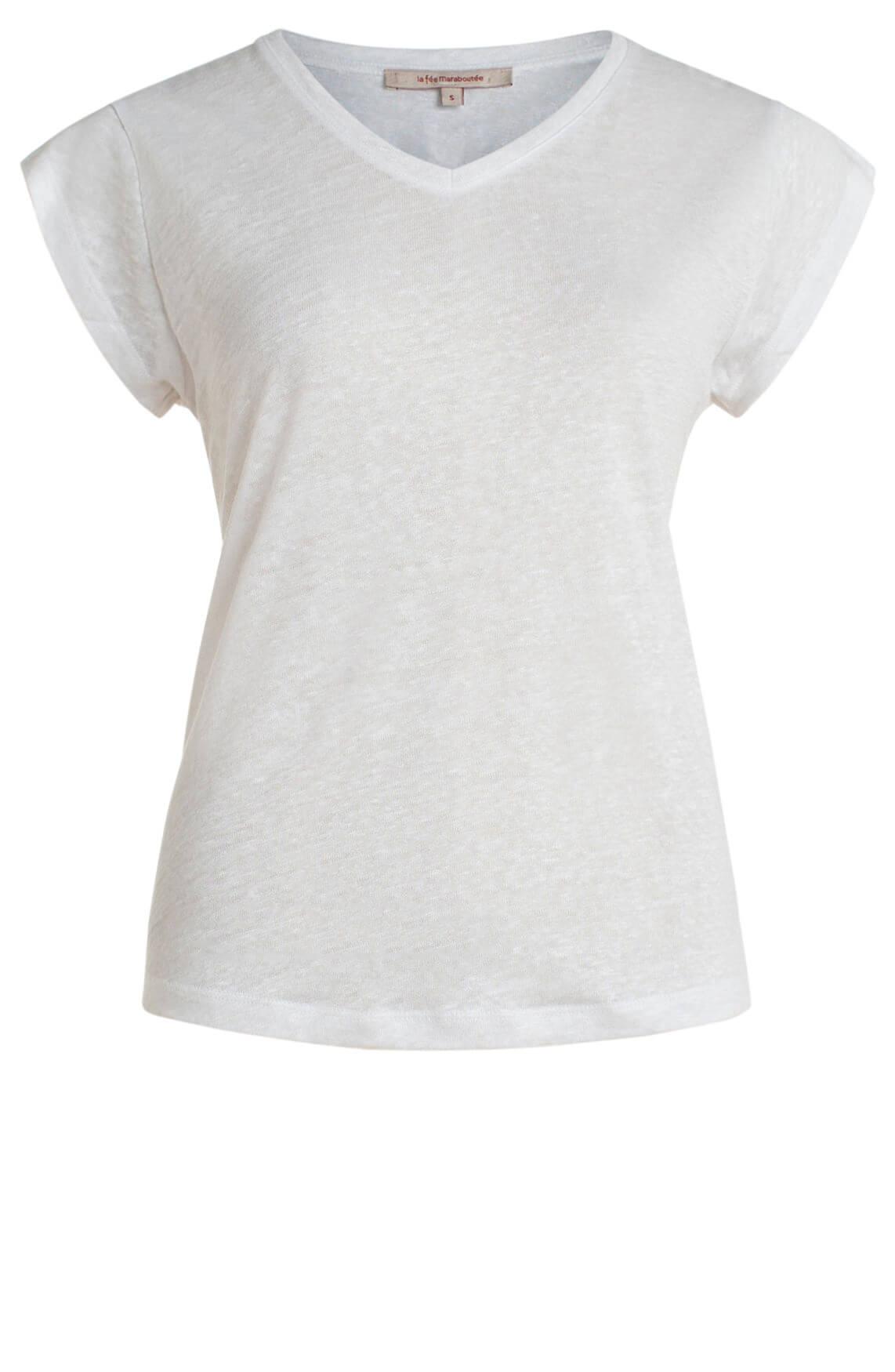 La Fée Maraboutée Dames Linnen shirt wit