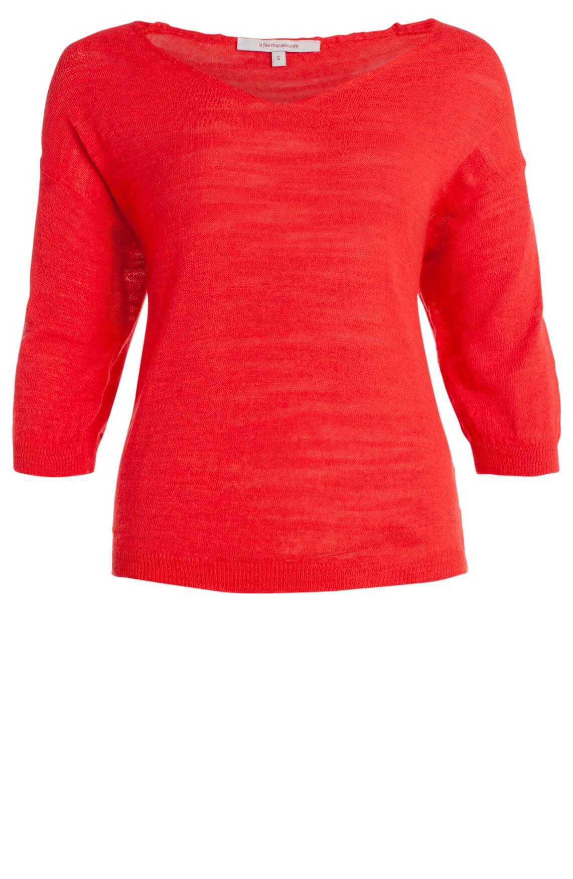 La Fée Maraboutée Dames Fijngebreide pullover Rood