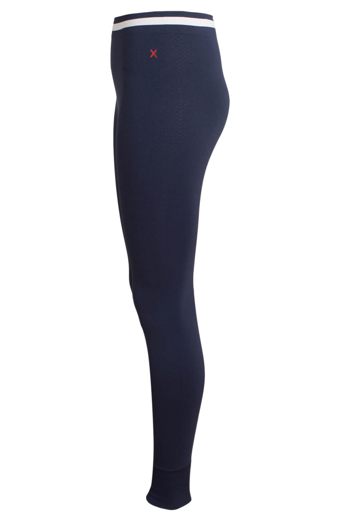 Anna Blue Dames Seamless legging met reliëf Blauw