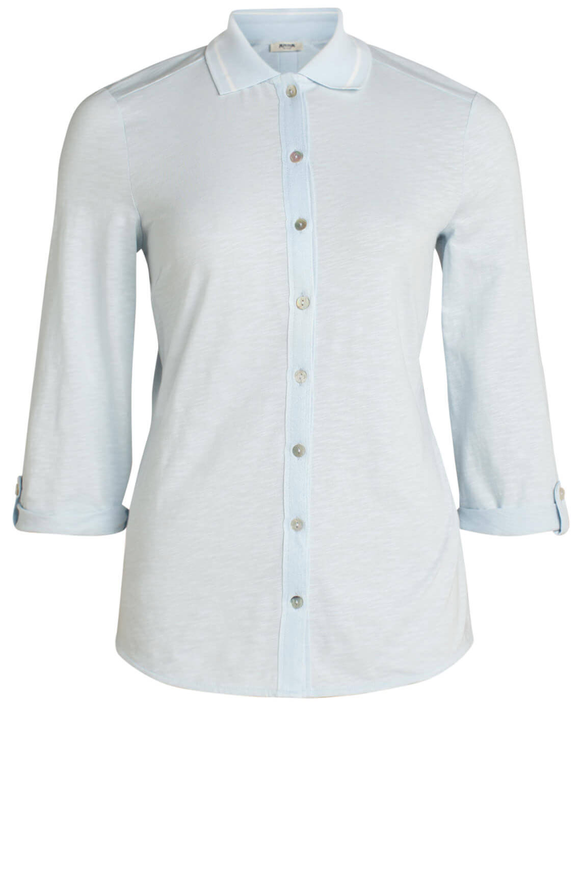Anna Blue Dames Casual blouse Blauw