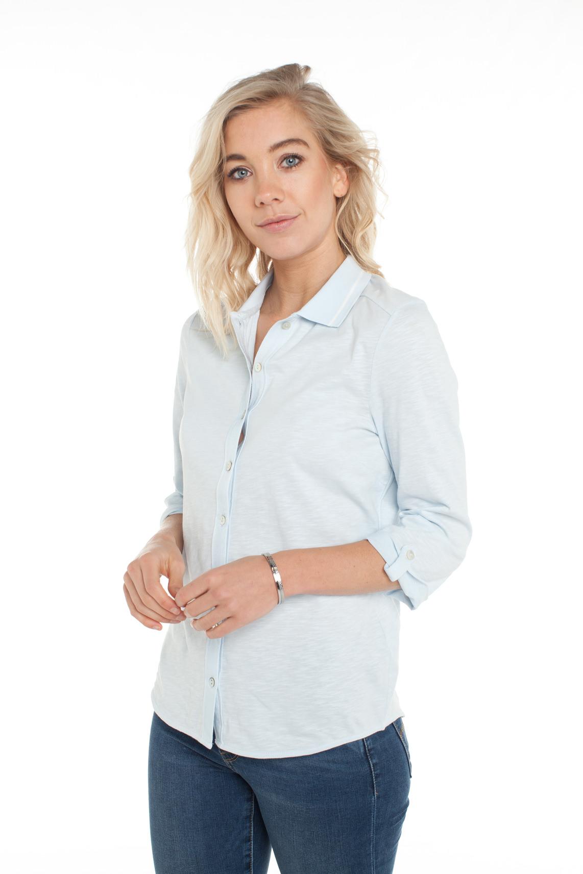 Anna Blue Dames Casual blouse Blauw