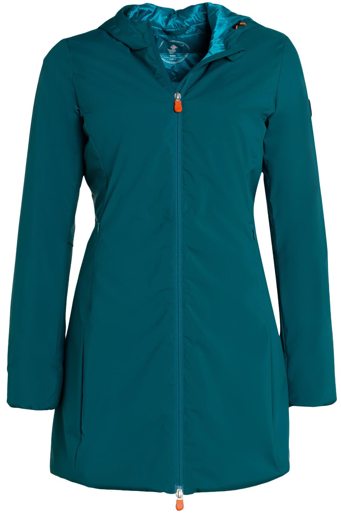 Save the Duck Dames Windbreaker met matte look groen