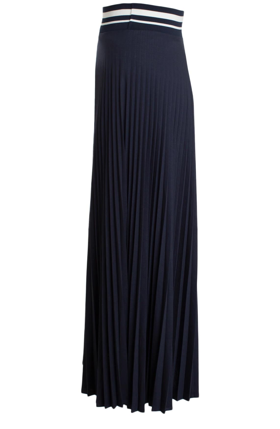 Anna Blue Dames Lange plissé rok Blauw