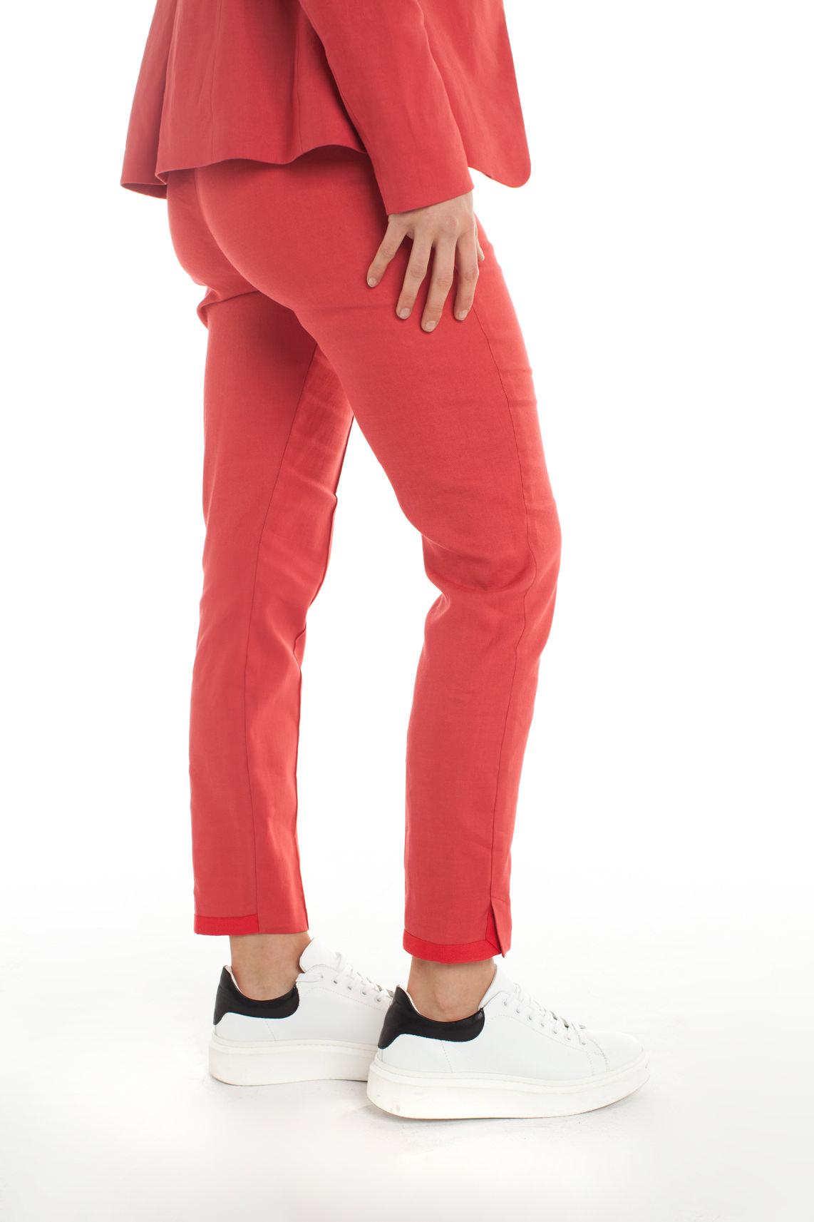 Anna Dames Linnen pantalon Rood
