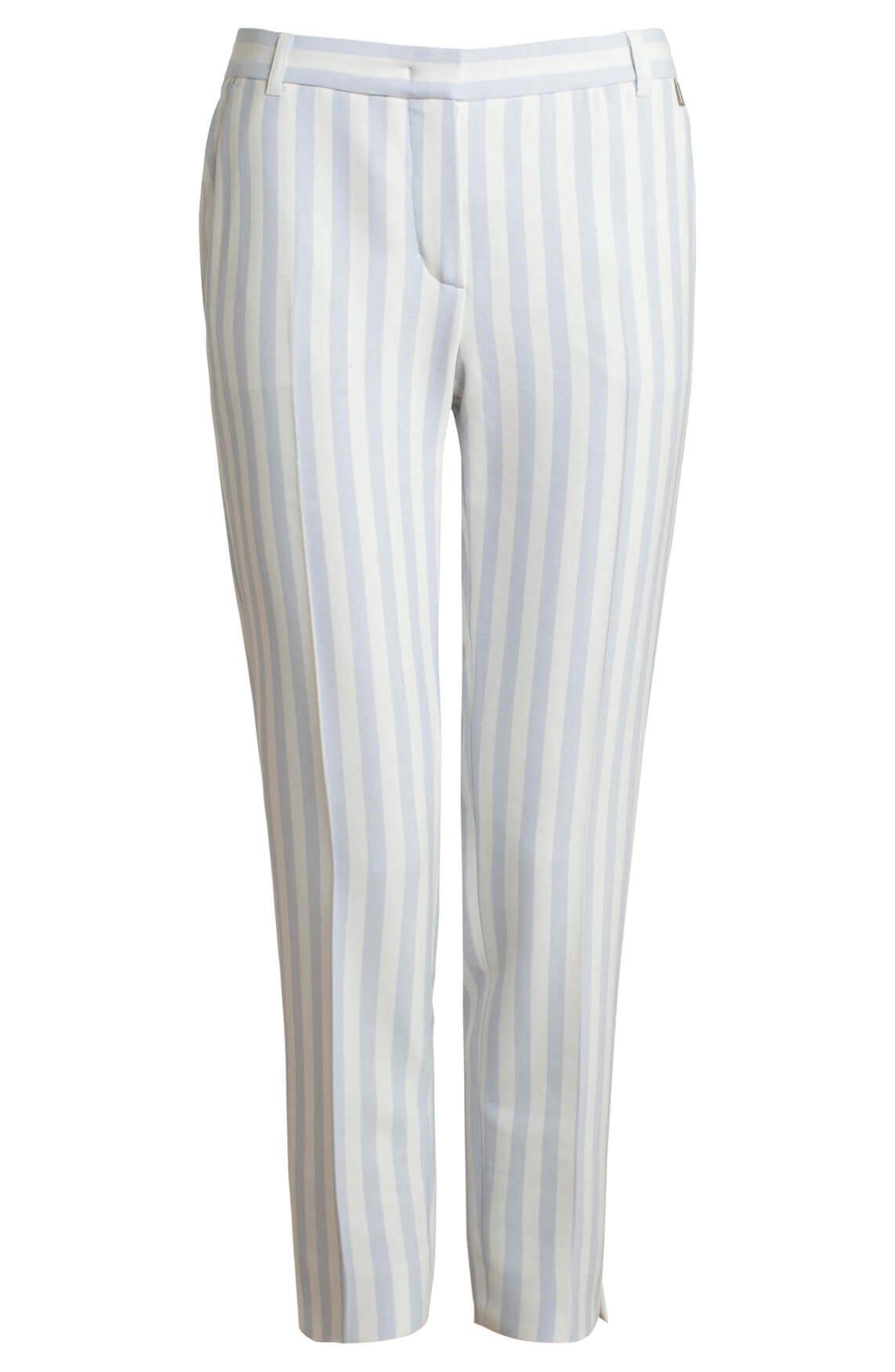 Anna Dames Gestreepte pantalon Blauw