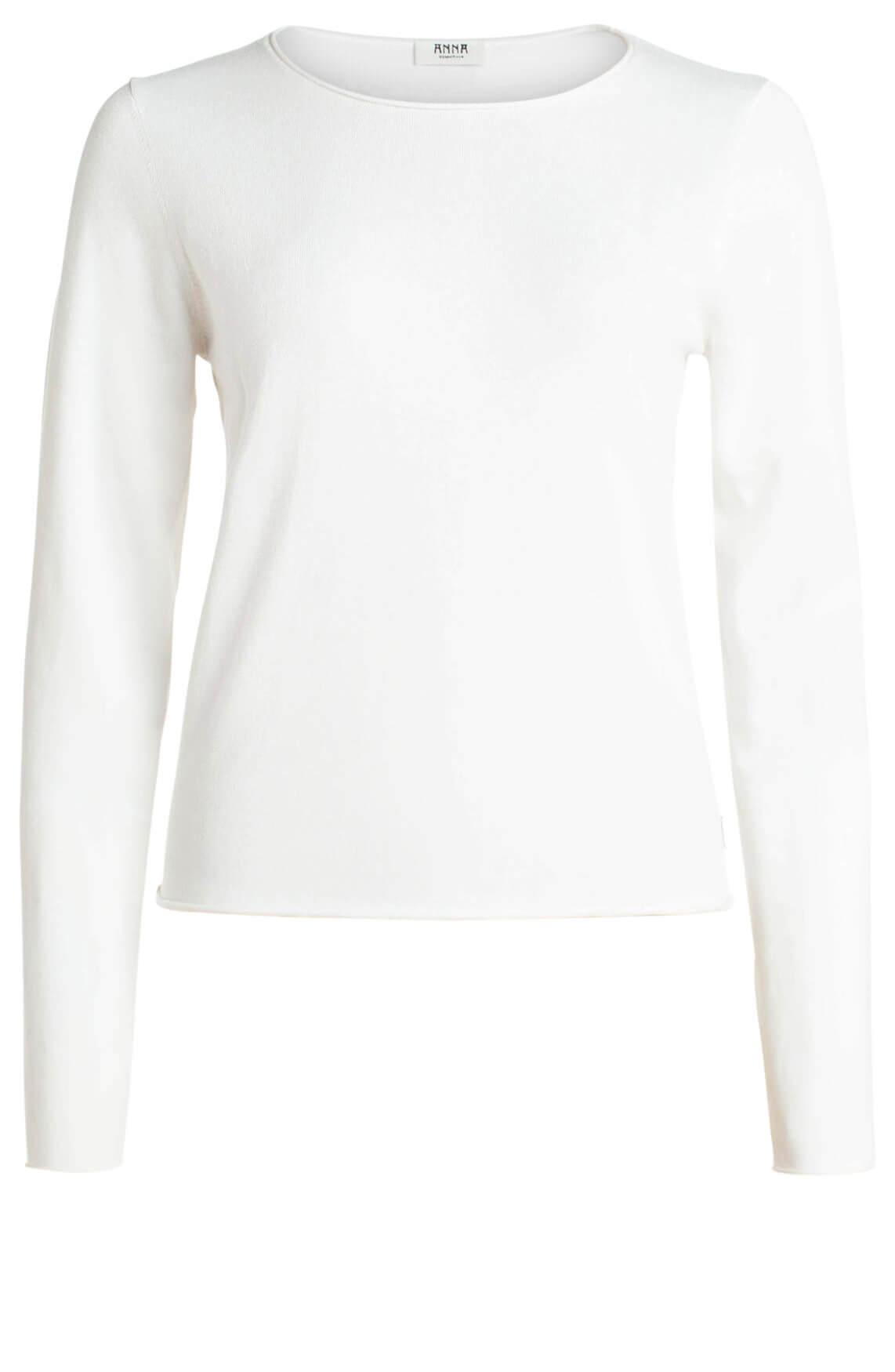 Anna Dames Fijngebreide pullover wit
