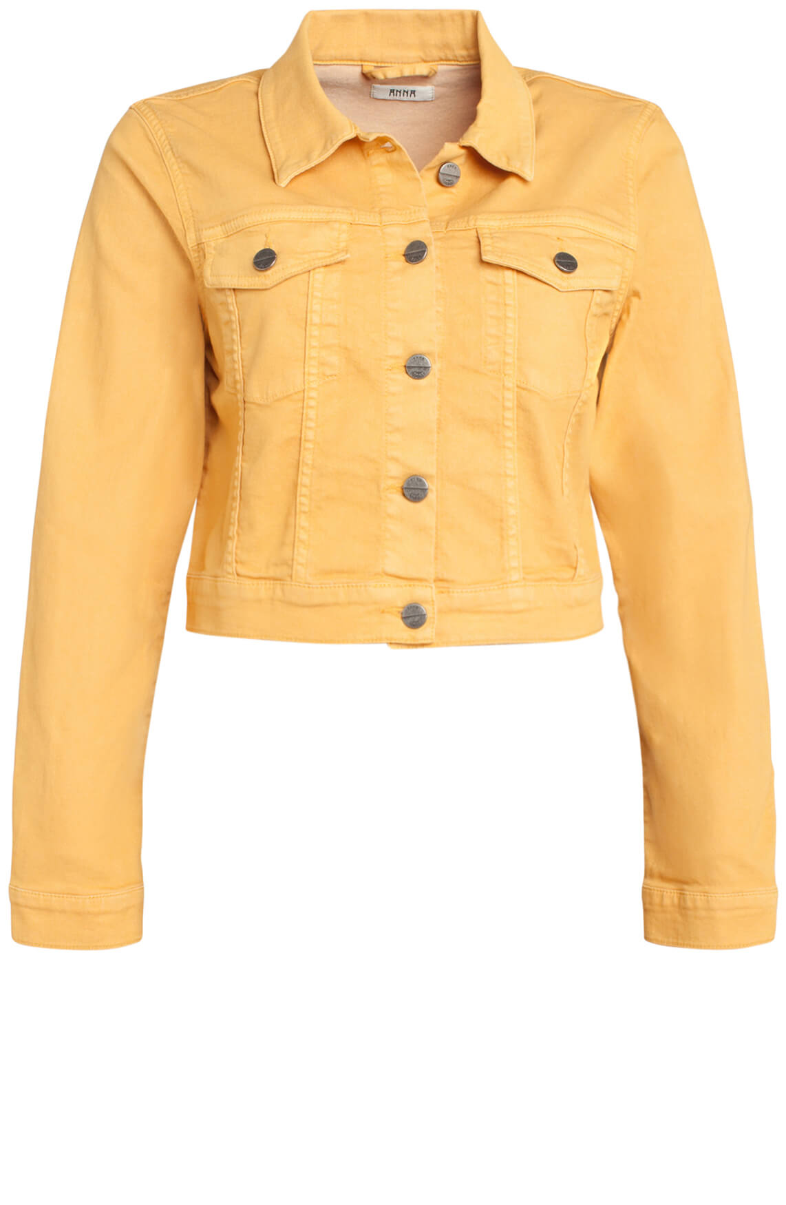 Anna Dames Cropped spijkerjack geel