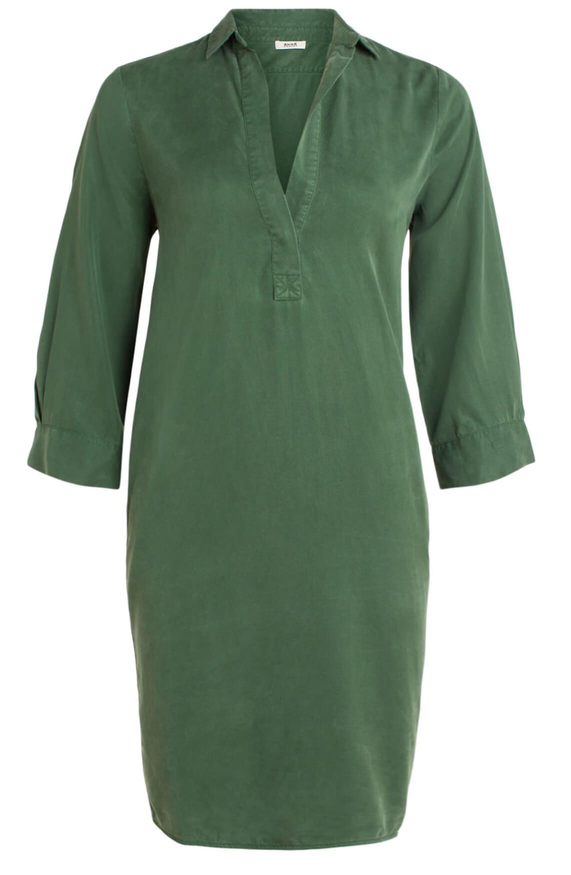 Anna Dames Tencel garment dye jurk groen