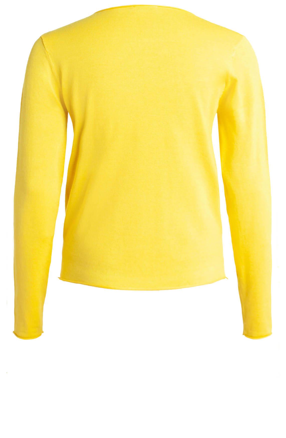 Anna Dames Fijngebreide pullover geel