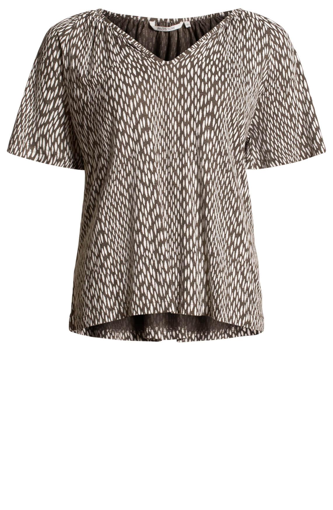 Moscow Dames Shirt met print groen