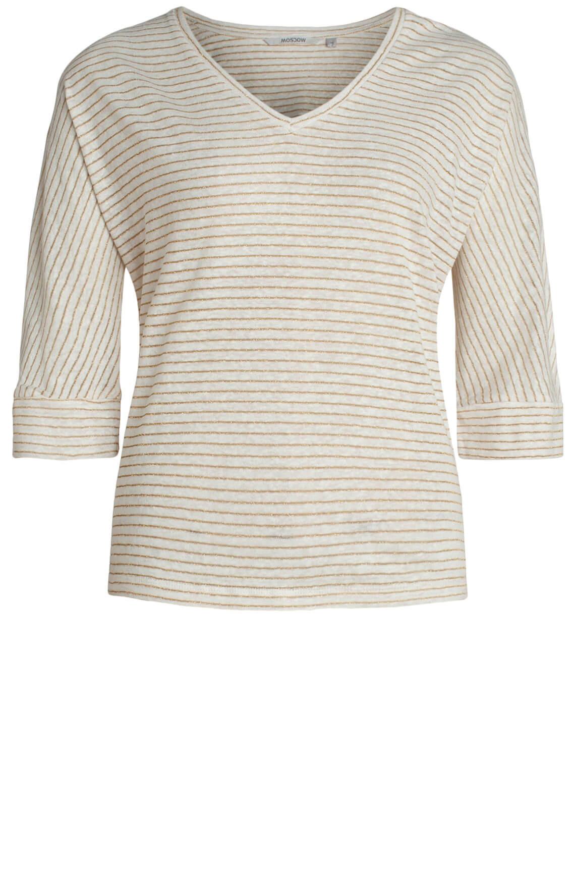 Moscow Dames Shirt met lurex wit