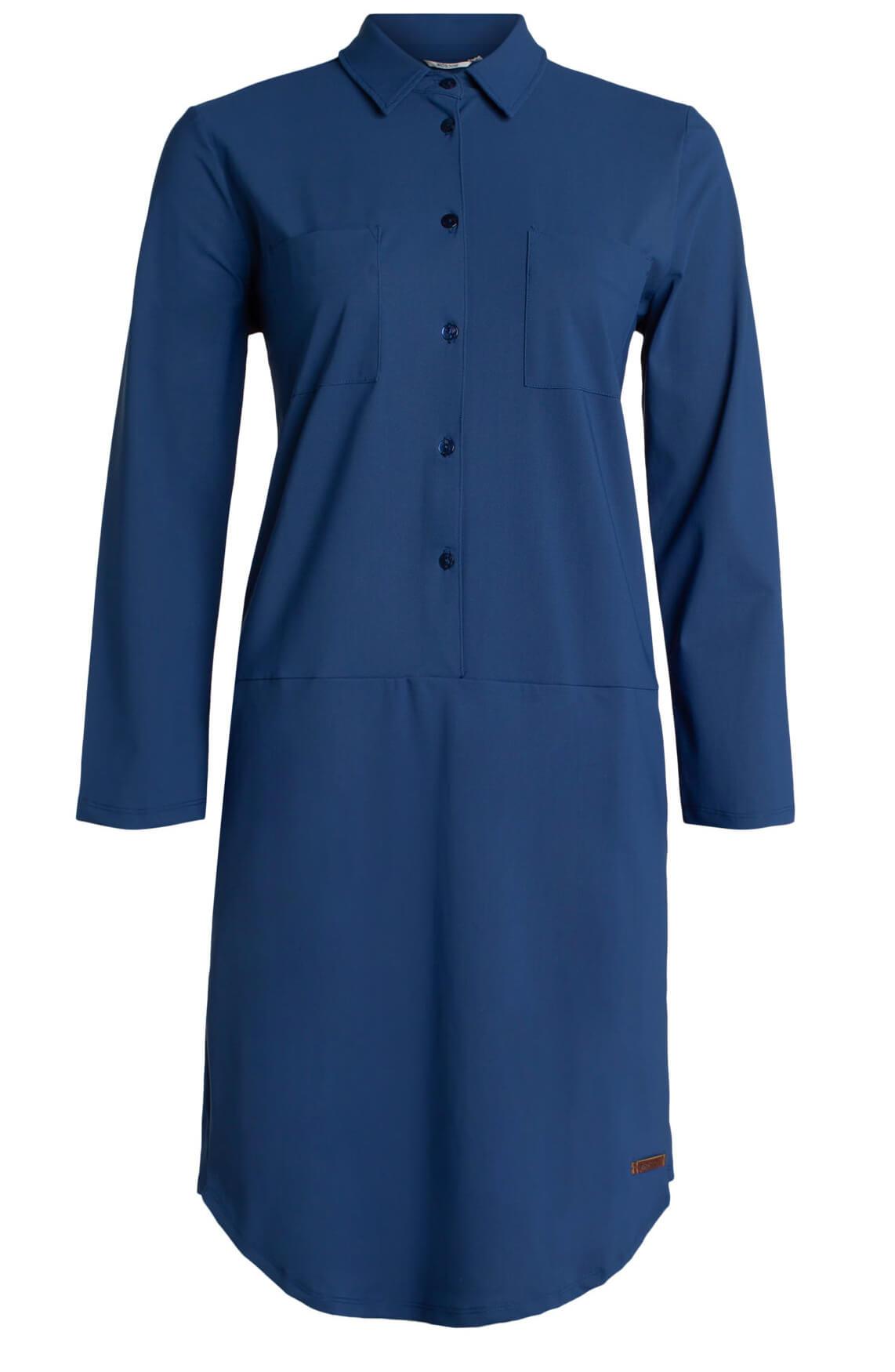Moscow Dames Comfortabele jurk Blauw