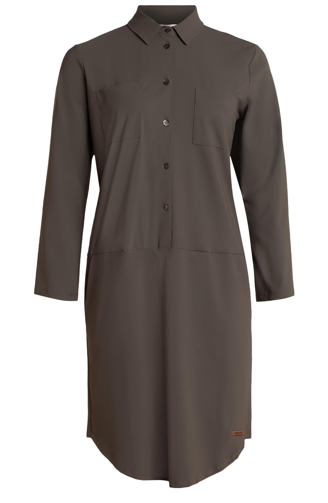 Moscow Dames Comfortabele jurk groen